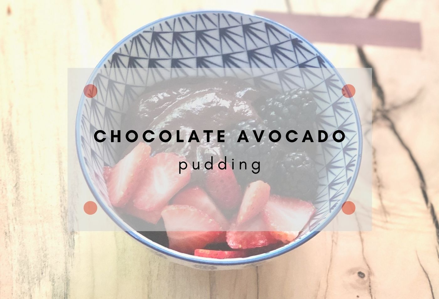 Sugar free Avocado Chocolate pudding